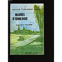 Manuel d'oenologie.