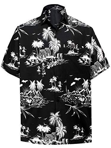 *La Leela**** Palm Floreale Casuale Floreale buttotn Giù Manica Corta Camicia Hawaiana Uomini - 51TKcLCzC0L - *La Leela**** Palm Floreale Casuale Floreale buttotn Giù Manica Corta Camicia Hawaiana Uomini