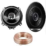 Wheels N Bits 5 Metre OFC Speaker Cable + Pioneer TS-G1310F Speakers 13cm