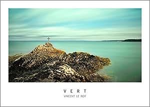 Poster VERT • Plage du corps de garde (Binic), 70 x 50 cm, papier 250g, photographie de Vincent Le Roy