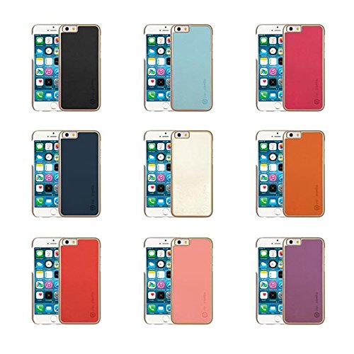 Pipetto iPhone 6 / iPhone 6S Hülle, Apple iPhone 6 / iPhone 6S Hülle Einschnappendes Cover 12 cm schlank Saffiano PUR Orange + Champagner Gold Schwarz/Champagner Gold