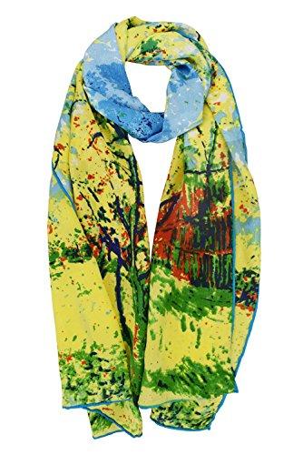 elegna-luxurious-100-charmeuse-silk-scarf-with-claude-monet-van-gogh-gustav-klimt-peach-tree-in-bloo