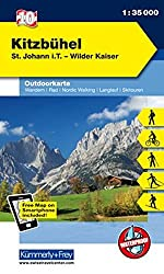 Kitzbühel, St. Johann i. T., Wilder Kaiser: Nr. 10, Outdoorkarte Österreich, 1:35 000, Freemap on Smartphone included (Kümmerly+Frey Outdoorkarten Italien)