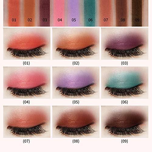 LEEDY 9 Couleurs Fard à Paupières Palette de Maquillage Cosmétique Set Ombre à PaupièRes Mat - Convient Parfaitement pour une Utilisation Professionnelle ou à la Maisons