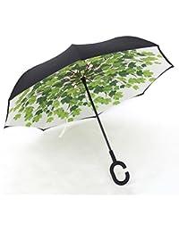 MDBLYJCreatividad casera Paraguas Reversible con Manos Libres, Paraguas con Doble asa de Lluvia (Color