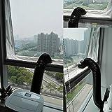 Routinfly Airlock-Fensterdichtung für mobile Klimaanlagen und Ablufttrockner (Weiß)