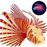 Bontand Leone Artificiale dei Pesci Luminoso Pesce Falso Galleggiante Falso Pesci D'Acquario Decorativo per Fish Tank Ornamento Glow Simulazione Decorazioni degli Animali