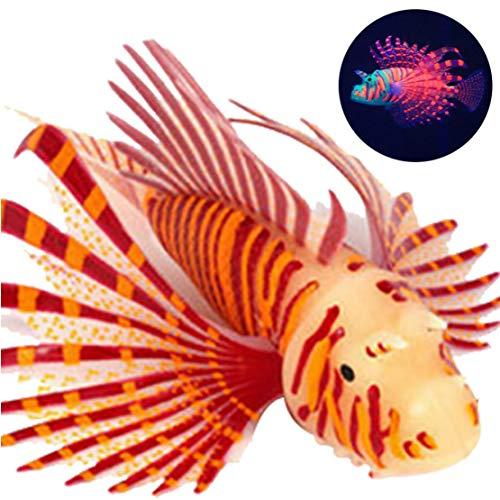 León Artificial Pescado Luminous Fish Flotante Falso Falso Peces De Acuario Decorativo para El Tanque De Pescados del Ornamento Resplandor Simulación Decoración Animal