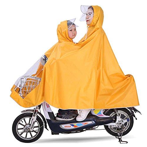 Elektrische Fahrrad Doppel-Regenmantel Mutter Und Kind Eltern-Kind-Poncho Erhöhte Dicke Wasserdichte Erwachsenen Batterie Motorrad Fahren,#2 (Kundenspezifische Sport-ärmeln)