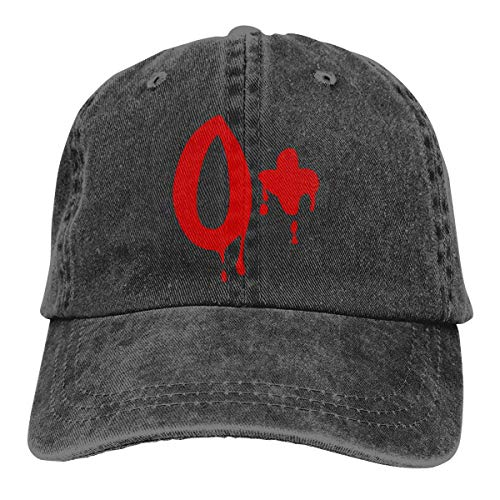 j65rwjtrhtr Men & Women Adjustable Cotton Denim Baseball Cap Blood Group O+ Trucker Cap