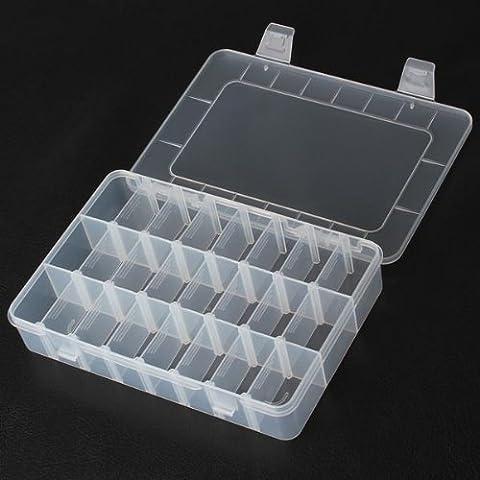 24 compartimentos de almacenamiento de plástico caja de herramienta de la reparación para el teléfono móvil.
