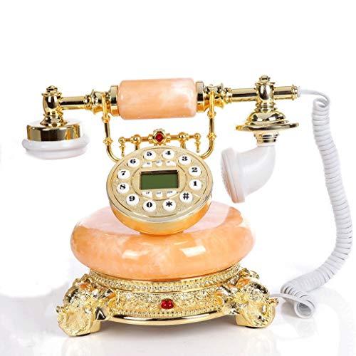 ZYN Retro- Telefon-Knopf, der freihändige Anrufer-Identifikations-Linie benutzt für Haushalts-Geschäfts-Dekoration wählt NYZ (Farbe : Hands-Free+Blue Screen Caller ID) Screen Caller Id