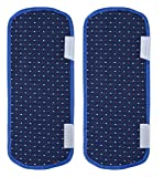 #4: Yellow Weaves Multi-Purpose Handle Cover For Refrigerator,Car/Oven - 14 X 6 Inches (Pack Of 2)- Blue