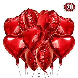 O-Kinee Globos Corazon Rojo, 20