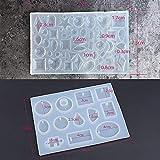 (57 Muster) 2 Stück Silikonform Gießform Resin Form Schmuck Form Silikon Mold Schmuckgießform DIY Silikon für Anhänger Halskette Ohrringe DIY Basteln (Schmuck nicht enthalten)