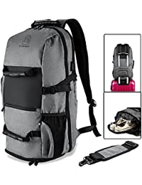 BTOOP Laptop Backpack With USB Charging Port For 17. 3 Inch Laptop Travel Duffel Backpack (Grey)