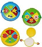 CDbox aus Holz - für 10 Stück - CD - ' bunte Figuren ' / für Jungen - Tasche - Blumen & Tiere - Mappe / Holzbox Aufbewahrung - für Kinder - Wallet Hülle Box CDTasche CDHülle - Blume Fisch CDs