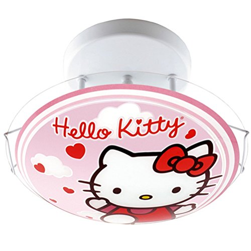 Plafonnier en verre Hello Kitty