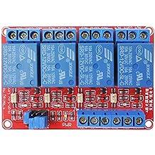 Amazingdeal365 Módulo de relé de blindaje de 12 vías de 4 canales con acoplador óptico Disparador de nivel H / L para Arduino 1280 2560 ARM PIC AVR DSP