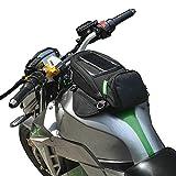CARACHOME Gepaeck Magnetisch Schwarz,Motorrad Tankrucksack Mit GPS-/Handyfach,Motorrad Tasche Für Honda Yamaha Suzuki Kawasaki Harley.
