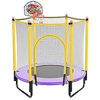 47 Zoll Trampolin mit Basketballständer, Safe Elastic Band Rebounder Fitnesstrainer für Kinder oder Erwachsene Jumping Bett 4 Fuß preisvergleich bei fajdalomcsillapitas.eu