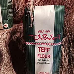 Tobia Teff Organic Brown Teff Flour 1000 g (order 20 for trade outer)