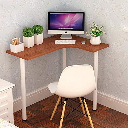 Laptopständer DD Holzfarbe Beistelltisch Für Wohnzimmer, Kleiner Couchtisch, Kidney Bean Form W / 3 Beine, Retro-Design, Vintage -Werkbank (Farbe : Teak+White)