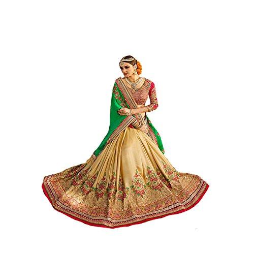 Designer Arbeit Original Ethnic Bollywood Indian Bridal Hochzeit Sari Frauengewand Traditionelle Weiß Sexy 8114 (Anzug Georgette)