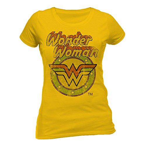 Wonder Woman Wonder Women - Circle Logo-T-shirt  Donna    Giallo (Daisy) 42