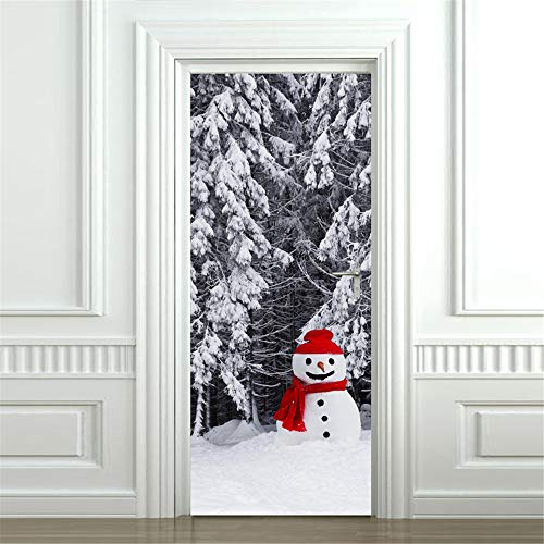 (AmyGline 3D Weihnachten Schneemann Wandaufkleber Kunst Removable Home Fenster Wandaufkleber Aufkleber Party Decor)