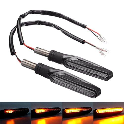 FEZZ Intermitentes Moto 12 LED Ámbar Lámparas Luces de Dirección Señales Universal...