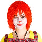 Perruque de clown afro bouclés 80s carnaval halloween hippie pop-star | rouge
