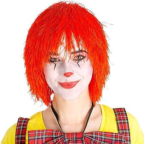 Perruque de clown afro bouclés 80s carnaval halloween hippie pop-star