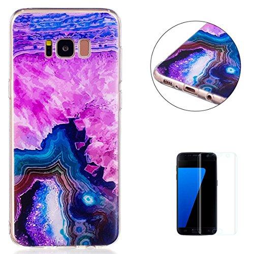 KaseHom Case for Samsung Galaxy S8 Plus Hülle Silikon-Gel Klar (Frei Displayschutzfolie) Transparent Flexibel [Stoßfest] hübsch Haustier Cartoon Mädchen Kunstwerk Entwurf-Fantastisches Muster