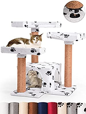 Leopet Cat Tree Quick Connect Scratching Post (Choice of Colours) 71.4/74.4/66.1 cm Cat Kitten Scratcher Playing Activity Centre