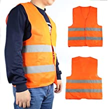 Seguridad visibilidad chaleco reflectante construcción tráfico naranja