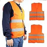 PAO MOTORING Seguridad Visibilidad Chaleco Reflectante construcción tráfico Naranja