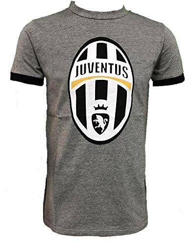 Perseo maglietta juventus calcio abbigliamento t-shirt juve ps 26965 logo storico-l-grigio