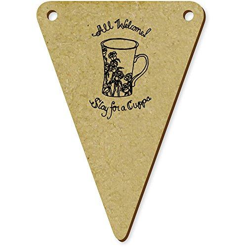 5 x 70mm 'All Welcome' fanions triangles en bois (BN00009227)