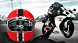 #10: JMD Magna Full Face Helmet (L) Red Color || ISI Certified Helmet || Imported Cushioning For Comfort Fit || Poly Carbonate Visor For Better Visibility || Scratch Less Shell For Longer Life || Safety Without Compromise