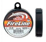 Fil à perler tressé FireLine 0,2 mm de diamètre / 2,7 kg - gris fumée (bobine de 45 m)