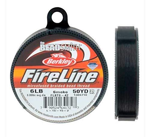 FireLine Garn für Perlenarbeiten 4LB, Rauchgrau, 0,15mm, 45m -