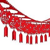 Leinuosen 39 Zoll Chinesisches Neujahr Dekorationen Fu Frühlingsfest Banner Rote Hängende Laterne Festival Dekoration, 39,3 Fuß Insgesamt