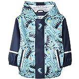 Kinder Wasserdicht Jacke Regenjacke Regenmantel Baby Mädchen Jungen Süß Wassedicht Jacke mit Kapuze Dunkelblau 1 86/92