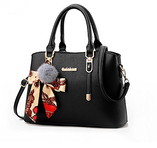 CLOTHES- Versione coreana della borsa donna borsa La nuova borsa della moda della personalità della spalla Big Ladies Borsa ( Colore : Viola ) Nero