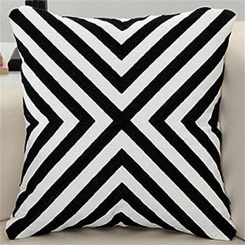 Wmshpeds Pillow Nordic série oreiller de lit oreillers de l'après-midi coussins de taille de la taille housse d'oreiller en lin impression numérique