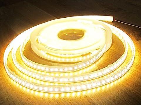 HIGHPOWER LED STRIPE STREIFEN 5mt warmweiß 600LED IP65 12V 48Watt
