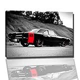 Auto Bild auf Leinwand -- 100x70 cm fertig gerahmte Kunstdruckbilder als Wandbild - Billiger als Ölbild oder Gemälde - KEIN Poster oder Plakat