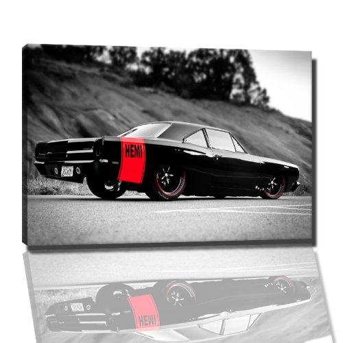 Auto Bild auf Leinwand -- 100x70 cm fertig gerahmte Kunstdruckbilder als Wandbild - Billiger als...