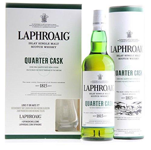 LAPHROAIG Islay Single Malt Scotch Whisky Quater Cask inklusive Nosing Glas